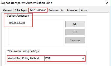Configuring transparent authentication using STAS